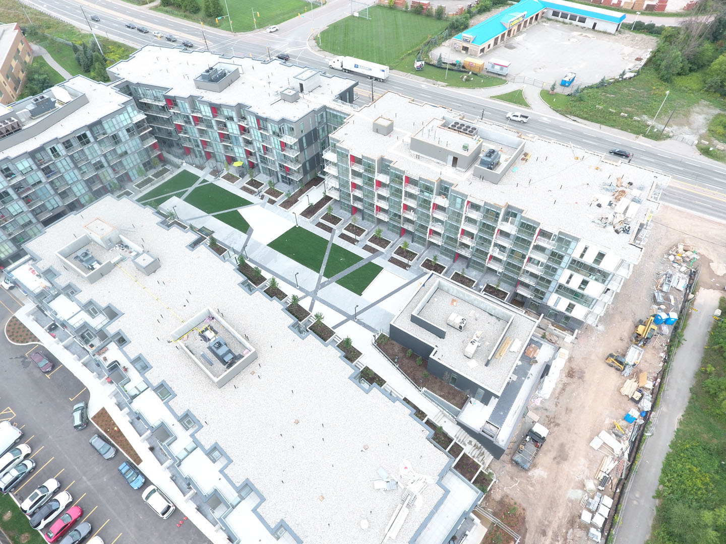 Arial view roof top amenity